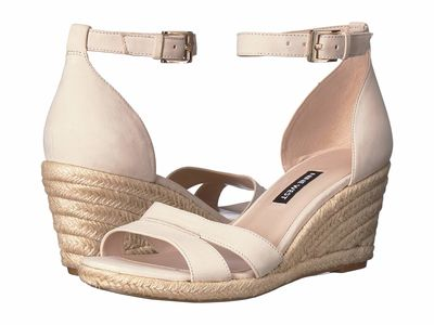 Nine West - Nine West Women Cotton Jabrina Espadrille Wedge Sandal Heeled Sandals