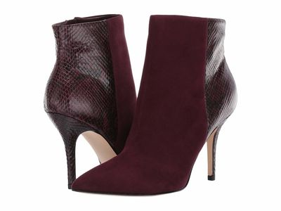 Nine West - Nine West Women Dark Garnet Faira 2 Ankle Bootsbooties