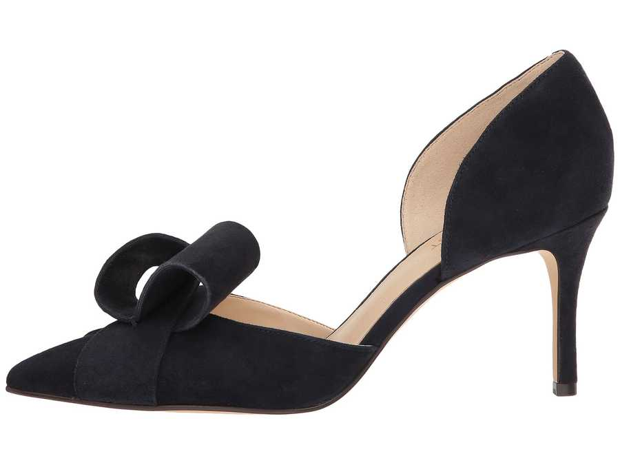 Nine West Women French Navy İsa Suede Mcfally D'Orsay Pump Pumps