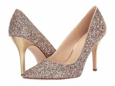 Nine West - Nine West Women Gold Flaggshi 3 Pumps