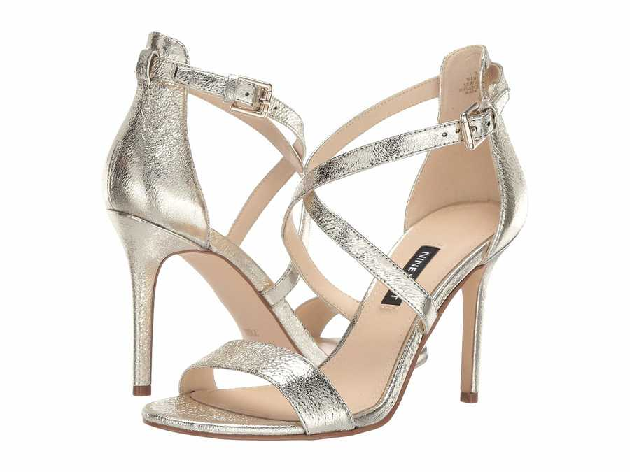 Nine West Women Gold Mydebut Heeled Sandals