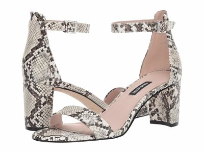 Nine West - Nine West Women İvory Multi Pruce Block Heel Sandal Heeled Sandals