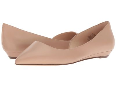 Nine West - Nine West Women Light Natural Synthetic Saige Flats