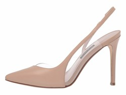 Nine West Women Light Natural Toffee Pointed Toe Slingback Pump Pumps - Thumbnail