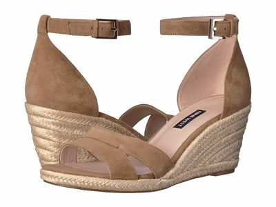 Nine West - Nine West Women Natural Jabrina Espadrille Wedge Sandal Heeled Sandals