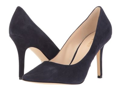 Nine West - Nine West Women Navy Suede Jackpot Pumps