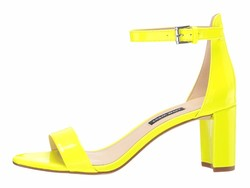 Nine West Women Neon Yellow Pruce Block Heel Sandal Heeled Sandals - Thumbnail