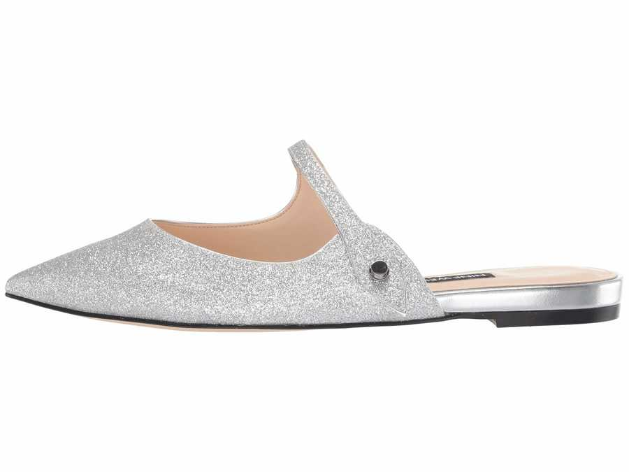 Nine West Women Silver Camilap Flats