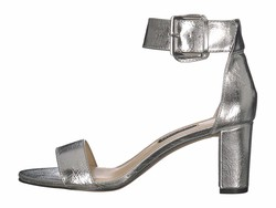 Nine West Women Silver Plydn 3 Heeled Sandals - Thumbnail