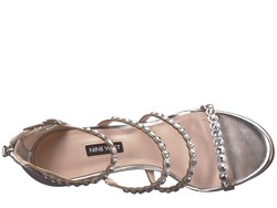 Nine West Women Silver Synthetic Vandison Heeled Sandals - Thumbnail