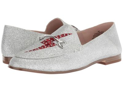 Nine West - Nine West Women Silver/Red Synthetic Wild Girls Loafer Loafers