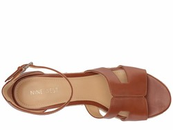 Nine West Women Tan Chestnut Adelyn Espadrille Wedge Wedge Heels - Thumbnail