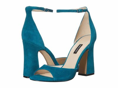 Nine West - Nine West Women Teal Gavyn Heeled Sandals