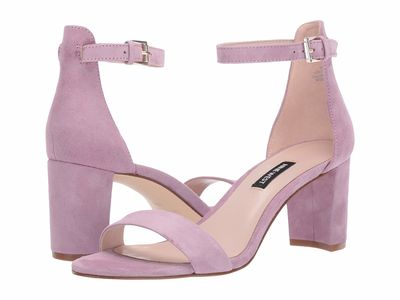 Nine West - Nine West Women Wisteria Lilac Pruce Block Heel Sandal Heeled Sandals