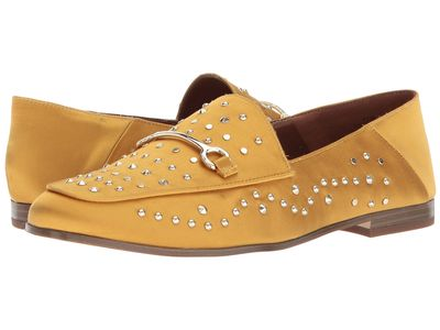 Nine West - Nine West Women Yellow Satin Westoy Loafer Loafers
