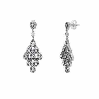 Pandora - Pandora Cascading Glamour Earrings with Clear Cubic Zirconia 296201CZ