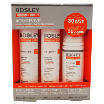 Professional Strength Bos Revive for Visibly Thinning Color Treated-Hair 3Pc Kit