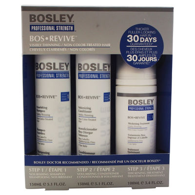Bosley - Professional Strength Bos Revive for Visibly Thinning Non Color Treated-Hair 3Pc Kit