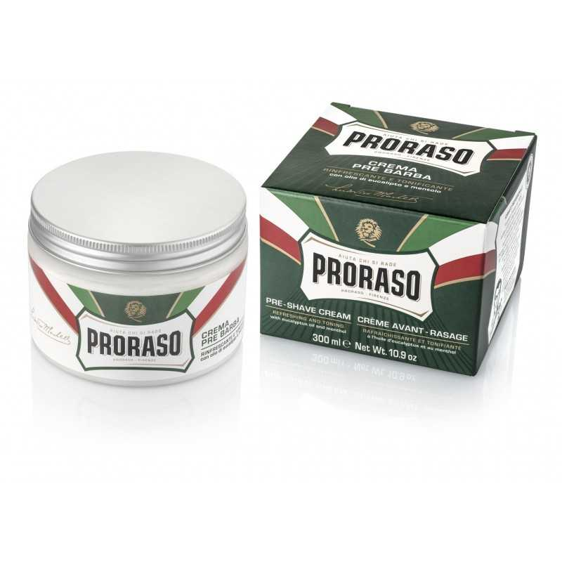 Proraso Refreshing and Toning Pre-Shave Cream with Eucalyptus Oil and Menthol 10.9 oz