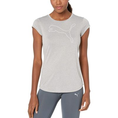 Puma - Puma Light Gray Heather 1 Active Logo Heather Tee
