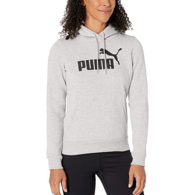 Puma - Puma Light Gray Heather Ess Logo Fleece Hoodie