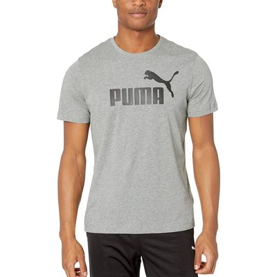 Puma - Puma Medium Grey Heather Ess Logo Tee
