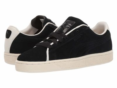 Puma - Puma Men Puma Black/Whisper White Suede Classic Raised Formstripe Lifestyle Sneakers