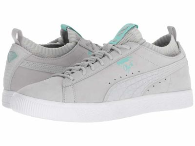 Puma - PUMA Men's Glacier Gray Glacier Gray Clyde Sock Lo Diamond Lifestyle Sneakers