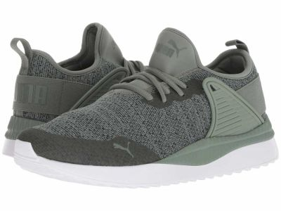 Puma - PUMA Men's Laurel Wreath Forest Night Pacer Next Cage Knit Premium Lifestyle Sneakers