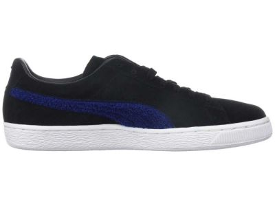 Puma - PUMA Men's Puma Black/Blue Depths Suede Classic Terry Sneakers Athletic Shoes 8896856695142