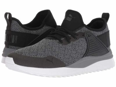 Puma - PUMA Men's Quiet Shade Puma Black Pacer Next Cage Knit Premium Lifestyle Sneakers