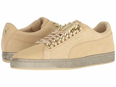 Puma - PUMA Men's Reed Yellow Metallic Gold Suede Classic X-Chain Lifestyle Sneakers