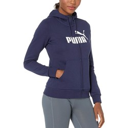 Puma Peacoat Essential Logo Fleece Hooded Jacket - Thumbnail
