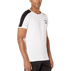 Puma Puma White Iconic T7 Tee Slim Fit - Thumbnail