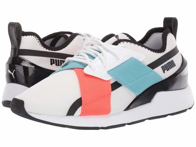 Puma - Puma Women Puma White/Puma Black/Milky Blue Muse X-2 Gloss Lifestyle Sneakers