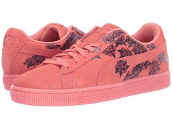 Puma Women Shell Pink Suede Tol Graphic Lifestyle Sneakers - Thumbnail