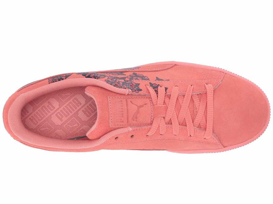 Puma Women Shell Pink Suede Tol Graphic Lifestyle Sneakers