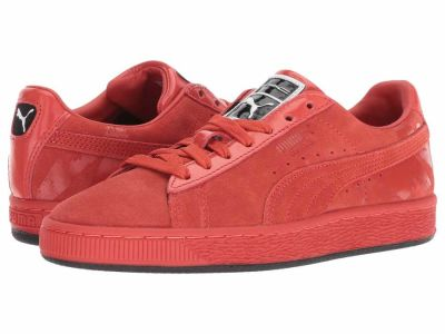 Puma - PUMA Women's Fiery Red Fiery Red Suede Classic X Mac Two Lifestyle Sneakers