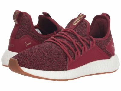 Puma - PUMA Women's Pomegranate Metallic Gold NRGY NEKO Knit Running Shoes
