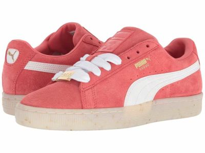Puma - PUMA Women's Spiced Coral Puma White Red Dahlia Suede Classic BBoy Fab Lifestyle Sneakers