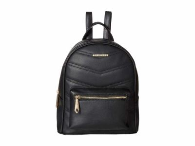 Rampage - Rampage Black Chevron Quilted Midi Backpack