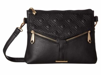Rampage - Rampage Black Diamond Double Quilted Cross Body Bag