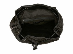 Rampage Black Quilted Tassel Backpack - Thumbnail