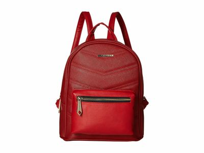 Rampage Red Chevron Quilted Midi Backpack