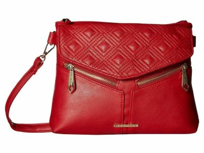 Rampage - Rampage Red Diamond Double Quilted Cross Body Bag