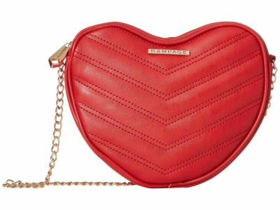 Rampage - Rampage Red Heart Shaped Quilted Cross Body Bag