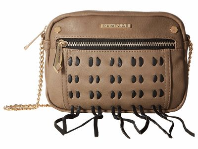 Rampage - Rampage Taupe Whipstitch Cross Body Bag