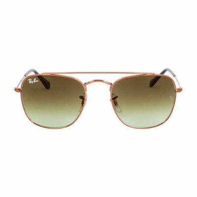 Ray Ban - Ray Ban Bronze Metal Frame Green Lens Sunglasses RB3557