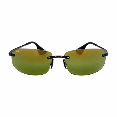 Ray Ban - Ray Ban Chromance Injected Frame Green Lens Sunglasses RB4254
