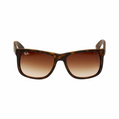 Ray Ban - Ray-Ban Justin Nylon Frame Brown Gradient Lens Unisex Sunglasses RB4165